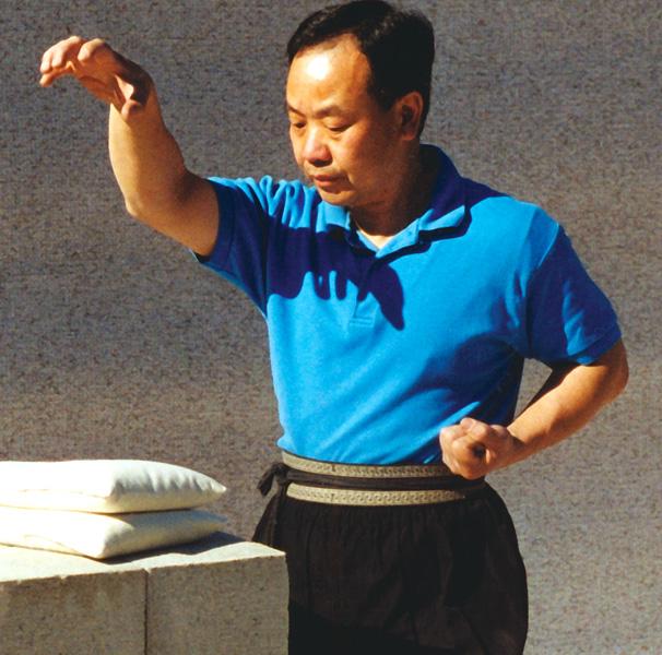 חישול וחיזוק היד על שקי אורז - קונג פו