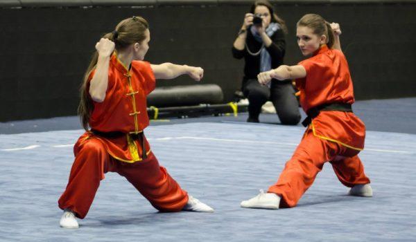 תצוגת Wushu בזוגות