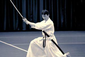 חיתוך עם חרב יפנית