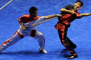 Wushu - תבנית בזוגות עם חנית